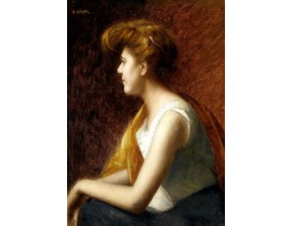 Krásné obrazy II-391 Marie-Augustin Zwiller - Portrét mladé ženy