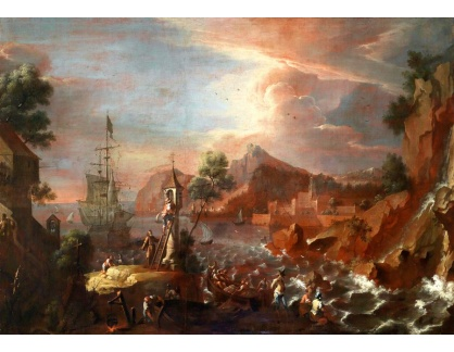 Krásné obrazy IV-169 Johann Anton Eismann - Přístav