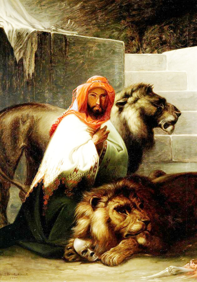 Krásné obrazy V-108 Pal Böhm - Krotitel lvů