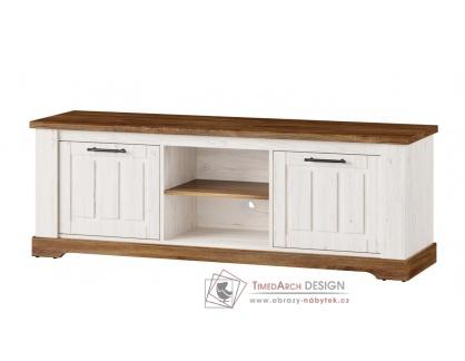 COUNTRY, 25 televizní stolek 2-dveřový, borovice andersen / dub stirling
