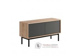 BERGEN BRTV104, televizní stolek, dub jaskson hickory / grafit