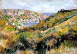 DDSO-5299 Pierre Auguste Renoir - Kopce kolem zálivu Moulin Huet v Guernsey