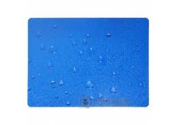 PCM podložka pod židli hladká, s motivy - Wassertopen, 90x120 cm, tvar O