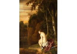 Krásné obrazy II-89 Jan van Neck - Diana koupající se v krajině