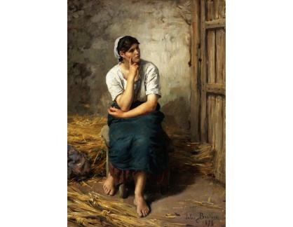 Krásné obrazy II-271 Jules Breton - Odpočinek