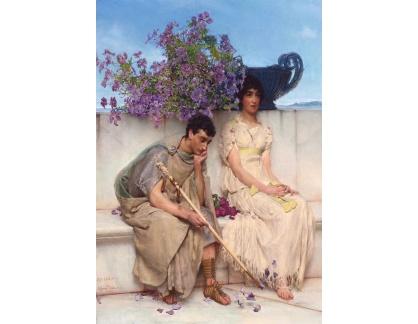 Krásné obrazy II-305 Lawrence Alma-Tadema - Výmluvné mlčení