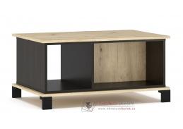 BUCKET, konferenční stolek 90x60cm, dub artisan / wenge
