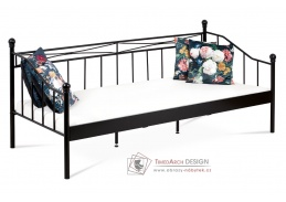 BED-1905 BK, kovová postel 90x200cm, černá