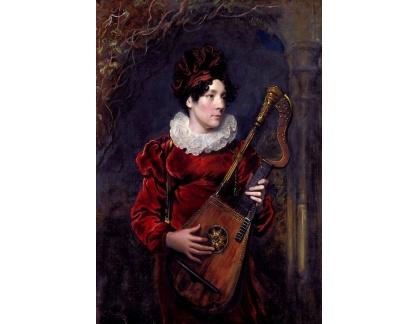 VANG110 George Henry Harlow - Portrét Kitty Stephens, pozdější hraběnky z Essexu