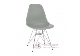 ANISA 2 NEW, jídelní židle, chrom / plast šedý