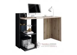 ANDREO, počítačový stůl, grafit-antracit / dub artisan