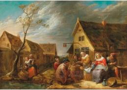 D-5876 Gillis van Tilborgh - Rolnici před hostincem