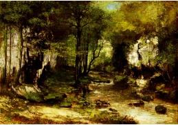 D-7252 Gustave Courbet - Lesní potok