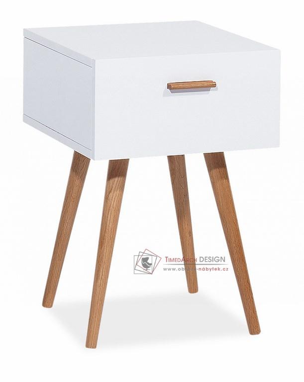 Komoda - skříňka MILAN S3 bílá / dub