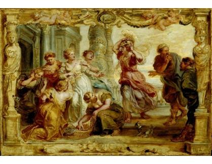VRU145 Peter Paul Rubens - Achilles mezi dcerami Lycomedese