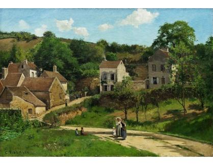 VCP-457 Camille Pissarro - Pohled na Hermitage v Pontoise