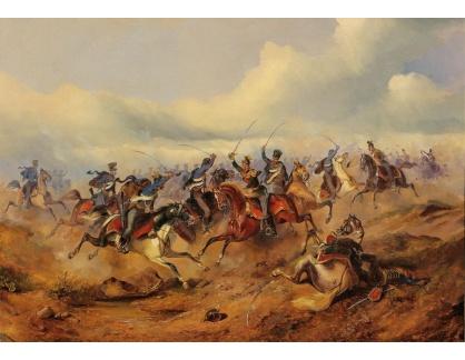 Slavné obrazy II-DDSO-413 Alexander von Bensa - Scéna z maďarské revoluce