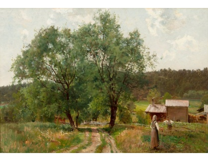 Krásné obrazy I-443 Hjalmar Munsterhjelm - Letní den
