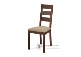 BC-2603 WAL, jídelní židle, ořech / látka krémová