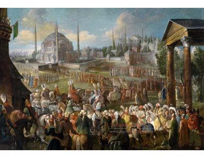 VF193 Jean-Baptiste Vanmour - Průvod sultána v Istanbulu
