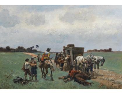 Slavné obrazy II-DDSO-424 Alfred Friedländer - Přepadení