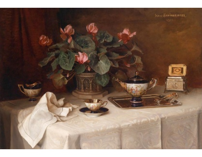 Slavné obrazy IX DDSO-703 Ignaz Schonbrunner - Zátiší s květinami