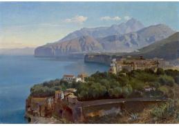 Slavné obrazy XIII-104 Carl Hummel - Pohled na záliv Sorrento