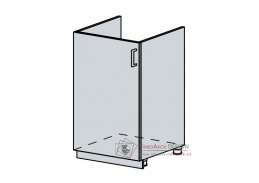 VERONA, dolní skříňka 1-dveřová pod dřez 50DZ, bílá / jasan šimo