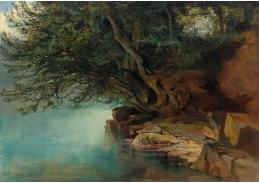 D-6585 Alexandre Calame - Stromy nad řekou