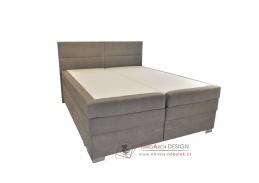 MANON, postel 160x200cm box-spring, látka světle šedá