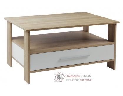 K145 ALEXANDR, konferenční stůl, dub sonoma / bílá