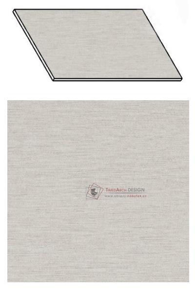 Kuchyňská pracovní deska 200 cm aluminium mat