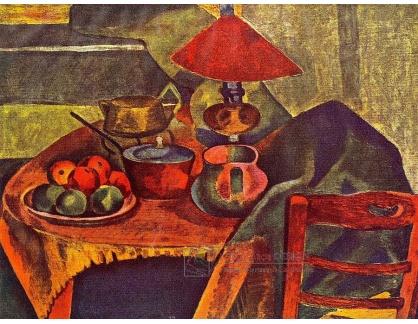 A-1534 Bohumil Kubišta - Zátiší s lampou
