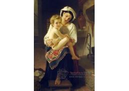 R15-104 Adolph William Bouguereau - Na kolenou