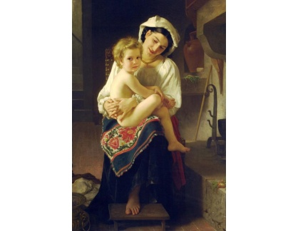 R15-104 Adolph William Bouguereau - Na kolenou