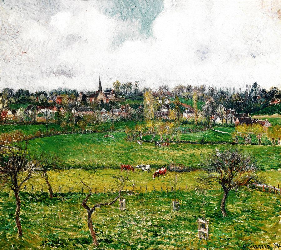 VCP-369 Camille Pissarro - Pohled na Bazincourt