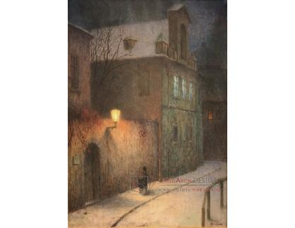 Jakub Schikaneder - Ulice v zimě