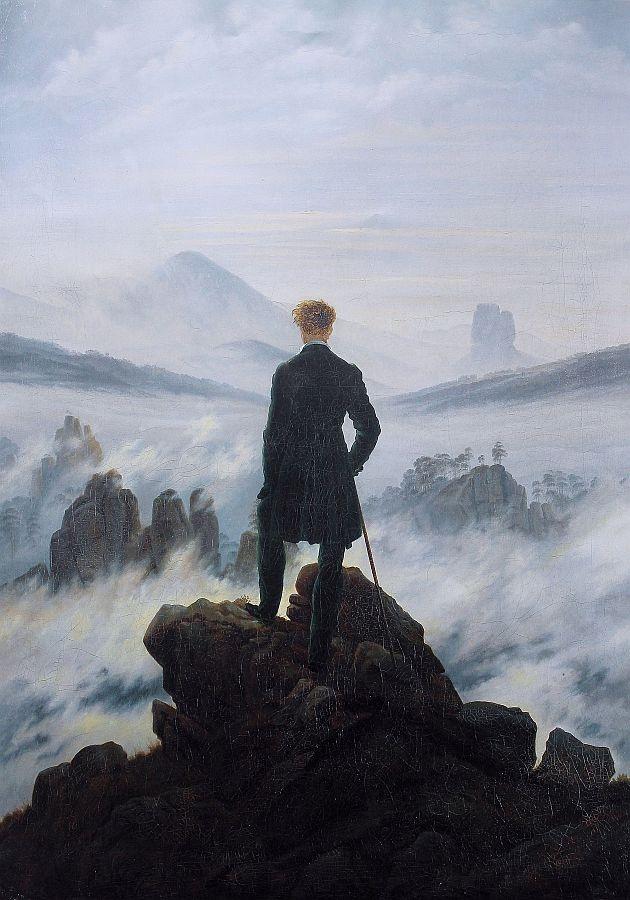 VSO 783 Caspar David Friedrich - Poutník nad mořem z mlhy