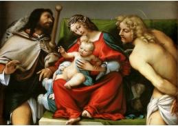 VLL 02 Lorenzo Lotto - Madonna se svatými Rochusem a Sebestiánem