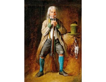 Krásné obrazy II-427 Michael Neder - Sedící lovec
