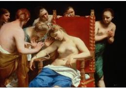 Slavné obrazy X-506 Guido Cagnacci - Smrt Kleopatry