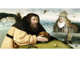 A-1227 Hieronymus Bosch - Pokušení poustevníka svatého Antonína