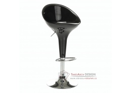ALBA NOVA, barová židle, chrom / plast černý