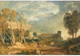 Joseph Mallord William Turner - Blesk v Chapel-Le-Dale