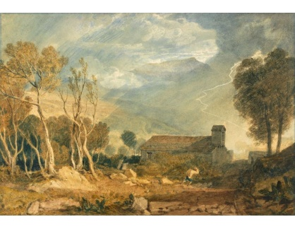 Joseph Mallord William Turner - Blesk v Chapel-Le-Dale