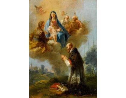 Slavné obrazy I-DDSO-109 Francesco Zuccarelli - Svatá rodina se svatou Annou a svatým Jáchymem