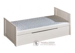 TOMI, dětská postel 90x200cm, borovice bílá