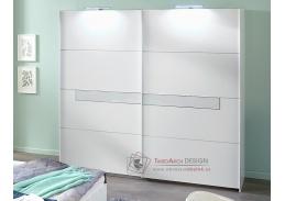 PAMELA 862, šatní skříň posuvnými dveřmi 270cm, alpská bílá