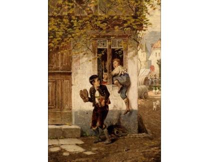 Slavné obrazy XVII-194 Fritz Beinke - Záškoláci