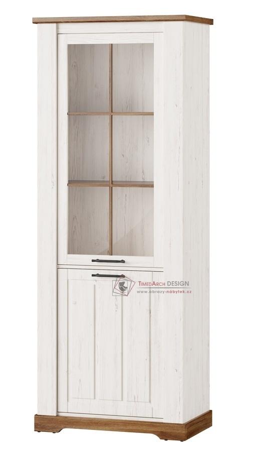 COUNTRY, 10 vitrína 2-dveřová, borovice andersen / dub stirling